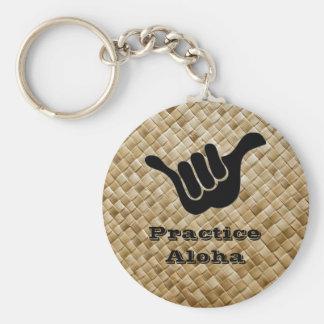 Practice Aloha Basic Round Button Keychain