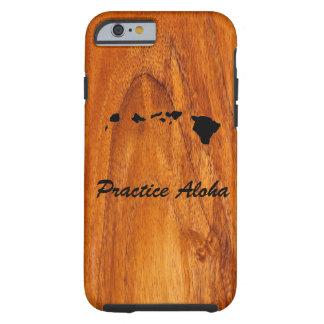 Practice Aloha iPhone case