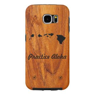 Practice Aloha Koa Wood Samsung Case