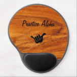 "Practice Aloha Mousepad<br><div class=""desc"">The Aloha Spirit is a well known reference to the attitude of friendly acceptance for which the Hawaiian Islands are so famous. Practice Aloha no matter where you may be. Surf the web with this Koa wood pattern mouse pad. Koa has been used by the Hawaiians for their surfboards, Wa&#39;a...</div>"
