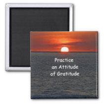 Practice an Attitude of Gratitude 2 Inch Square Magnet