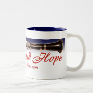 Practice and Hope mug Blue Lining