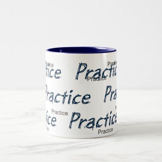 practice  coffee, designs by JWB Two-Tone Coffee Mug