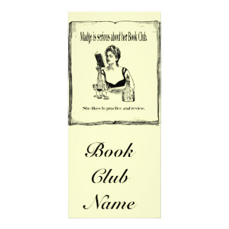 Practice For Book Club Vintage Design Rack Card