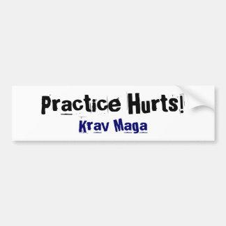 Practice Hurts Krav Maga Car Bumper Sticker