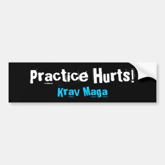 Practice Hurts Krav Maga Bumper Sticker