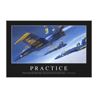 Practice: Inspirational Quote Canvas Print