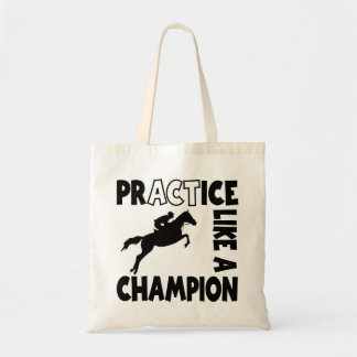 PRACTICE LIKE A CHAMPION TOTE BAG
