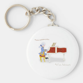 Practice Maintains Perfect Basic Round Button Keychain