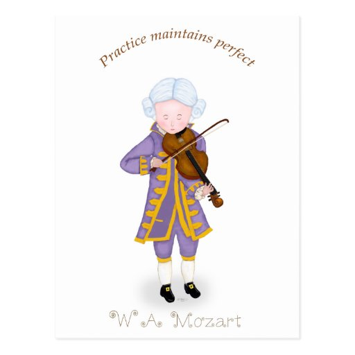 Practice Maintains Perfect (Violin) Postcard