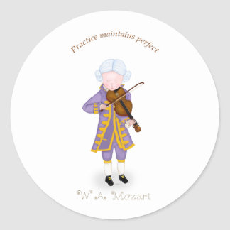Practice Maintains Perfect Violin Sticker