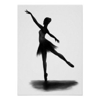 """Practice Makes Perfect"" ballerina poster"