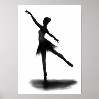 """Practice Makes Perfect"" ballerina poster"