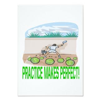 Practice Makes Perfect 5x7 Paper Invitation Card