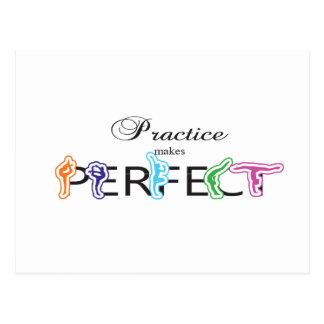 Practice makes Perfect Postcard