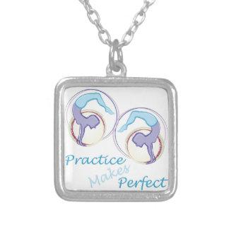 Practice Makes Perfect Square Pendant Necklace