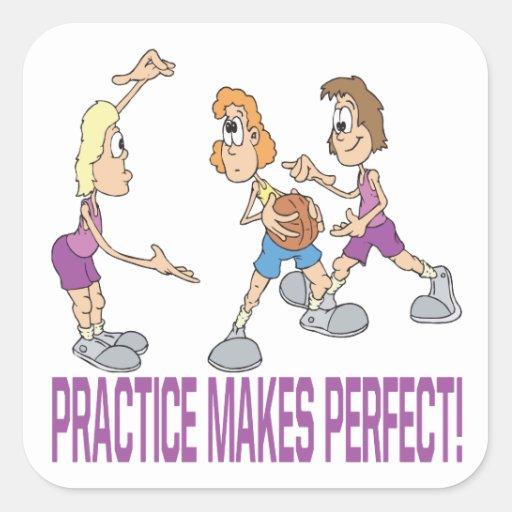 Practice Makes Perfect Square Sticker