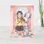Practice Makes Perfect - Violin Girl Greeting Card