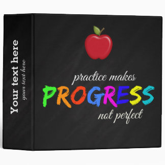 Practice makes progress binder