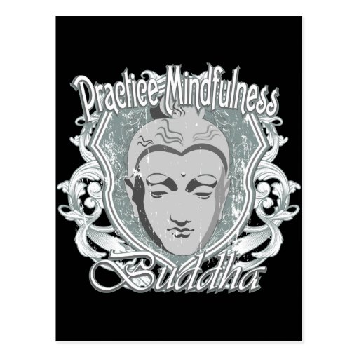 Practice Mindfulness Buddha Postcard