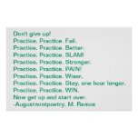 Practice Motivation Poster