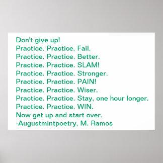 Practice Motivation Poster