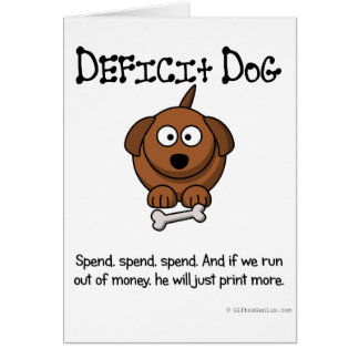 Practice of deficit spending card