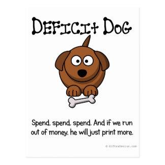 Practice of deficit spending postcard