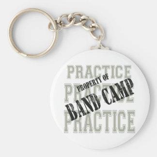 Practice Practice Basic Round Button Keychain