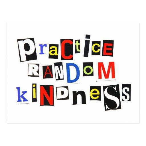 Practice Random Kindness Postcards