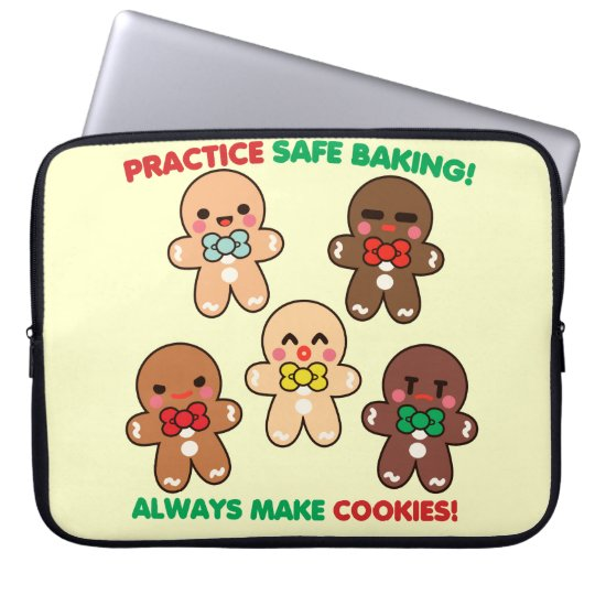 Practice Safe Baking! Laptop Sleeve