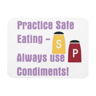 Practice Safe Eating Magnet