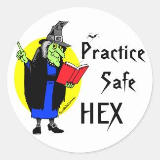 Practice Safe Hex Sticker