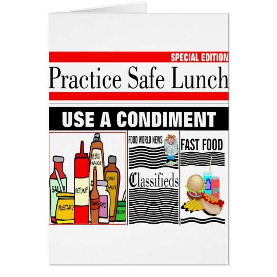 Practice Safe Lunch Card