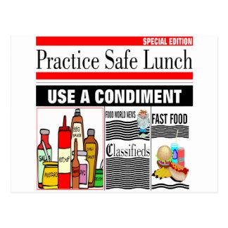 Practice Safe Lunch Postcard