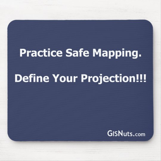 Practice Safe Mapping Mousepad