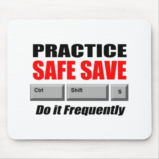 practice safe save mouse pad