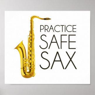 Practice Safe Sax Poster