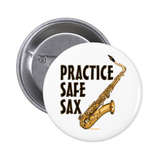 Practice Safe Sax - Tenor Button