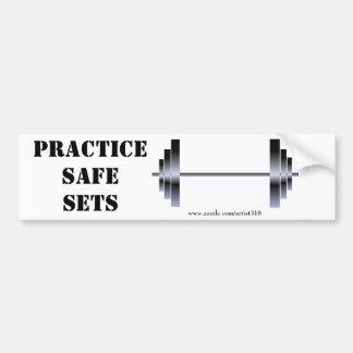 Practice Safe Sets (bumper sticker) Car Bumper Sticker