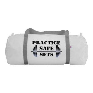 Practice Safe Sets (gym bag) Gym Duffle Bag