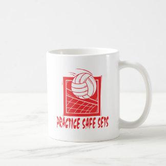 Practice Safe Sets Volleyball Gift Coffee Mug