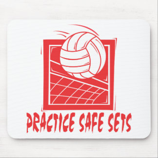 Practice Safe Sets Volleyball Gift Mouse Mat