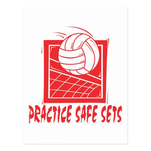 Practice Safe Sets Volleyball Gift Postcard