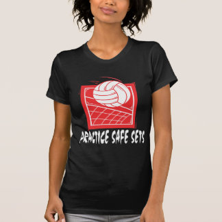 Practice Safe Sets Volleyball T-Shirts