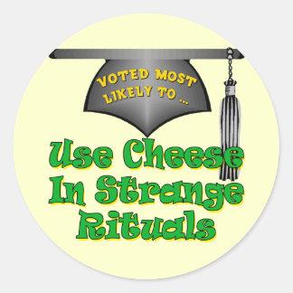 Practice Strange Rituals Round Stickers