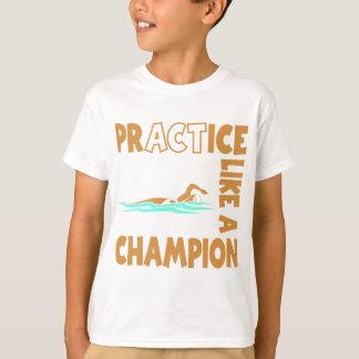 Practice Swim, gold T-Shirt