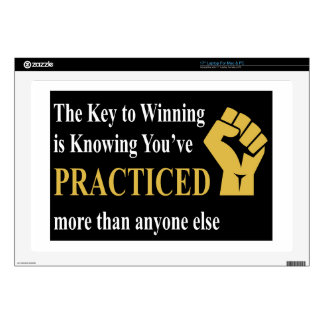 """Practice to Win Decal For 17"""" Laptop"""