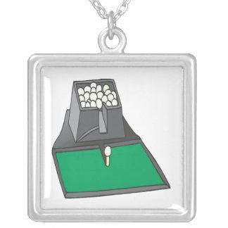 Practice Up Square Pendant Necklace