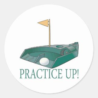 Practice Up Round Sticker